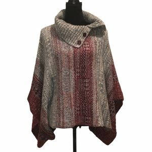 Free People poncho sweater with convertible neck